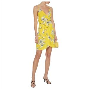 Alice & Olivia yellow floral dress